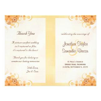 Modelos florais do programa do casamento do flyer 21.59 x 27.94cm