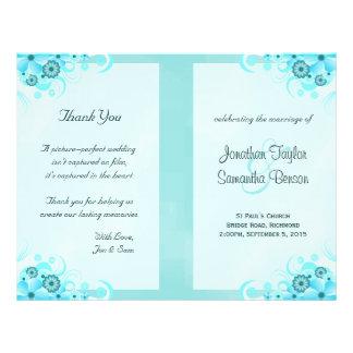 Modelos florais do programa do casamento do hibisc panfleto