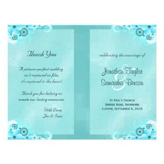 Modelos florais do programa do casamento do hibisc panfleto personalizados