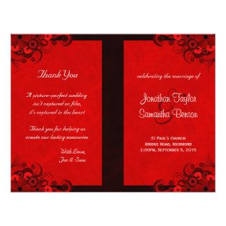 Modelos florais do programa do casamento do hibisc panfletos personalizados