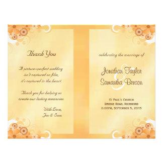 Modelos florais do programa do casamento do hibisc panfletos