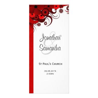 Modelos florais do programa do casamento do 10.16 x 22.86cm panfleto
