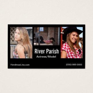 Modelos ou atores do cartão de visita do Headshot