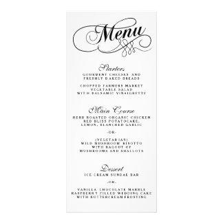 Modelos preto e branco elegantes do menu do