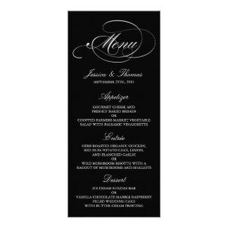 Modelos preto e branco elegantes do menu do 10.16 x 22.86cm panfleto