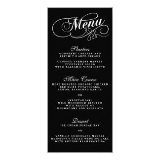 Modelos preto e branco elegantes do menu do panfleto personalizado