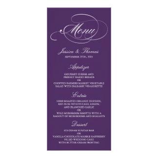 Modelos roxos e brancos elegantes do menu do 10.16 x 22.86cm panfleto