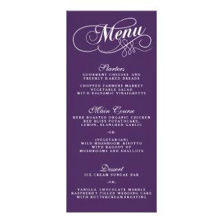 Modelos roxos e brancos elegantes do menu do modelo de panfleto informativo