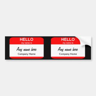 Modelos vazios do nome de etiqueta adesivo para carro