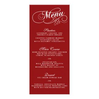 Modelos vermelhos e brancos elegantes do menu do 10.16 x 22.86cm panfleto