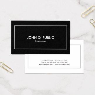 Moderno branco preto elegante profissional à moda cartão de visitas
