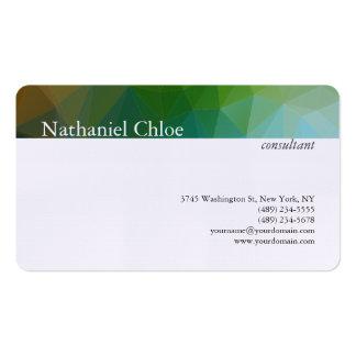 Moderno criativo da listra na moda de linho do cartão de visita