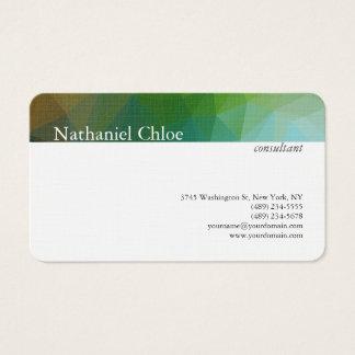 Moderno criativo da listra na moda de linho do cartão de visitas