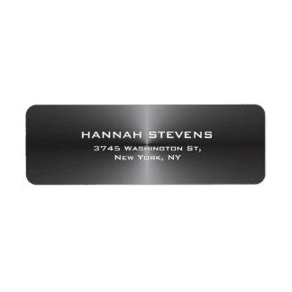 Moderno elegante cinzento liso simples na moda etiqueta endereço de retorno