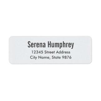 Moderno - etiqueta de endereço do remetente Branca
