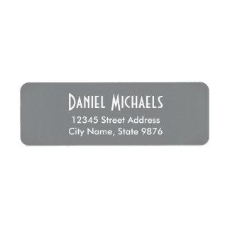 Moderno - etiquetas de endereço do remetente de