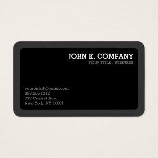 Moderno mínimo cinzento & preto da obscuridade cartão de visitas