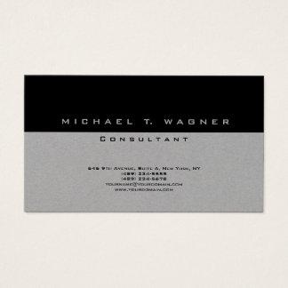 Moderno na moda cinzento preto simples liso cartão de visitas