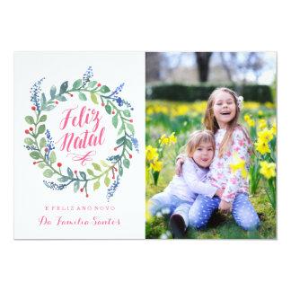 Moderno natal | Cartão de Natal Convite 12.7 X 17.78cm