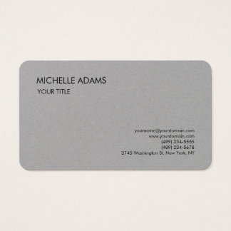 Moderno profissional simples cinzento superior cartão de visitas