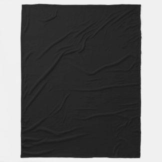 Moderno sofisticado da cor sólida preta cobertor de lã