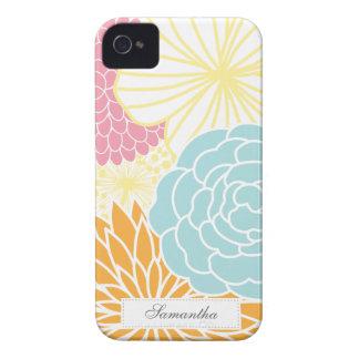 Modificação colorida floral capas para iPhone 4 Case-Mate