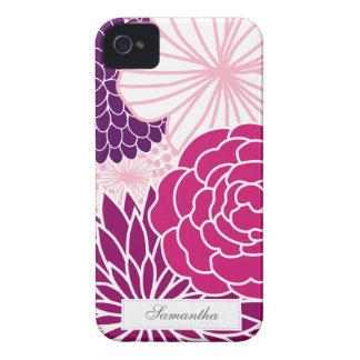 Modificação cor-de-rosa e roxa floral capinha iPhone 4