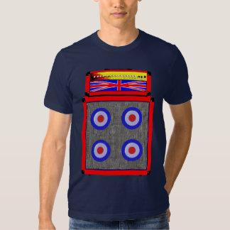 Modificação retro ampère de Ingleses e t-shirt do