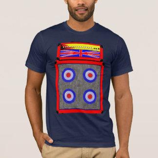 Modificação retro ampère de Ingleses e t-shirt do Camiseta