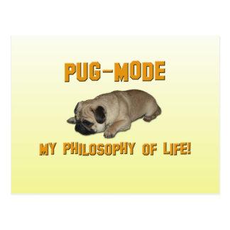 Modo do Pug - minha filosofia da vida - cartão do