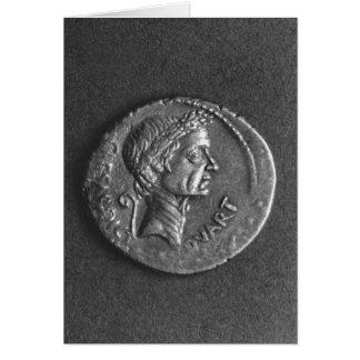 Moeda com um retrato de Júlio César Cartão