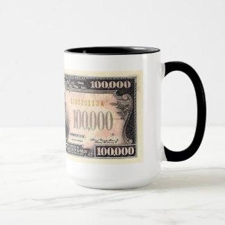 Moeda de $100.000 E.U. caneca de café de 15 onças