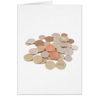 Moeda de libra cartão