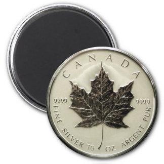 Moeda de prata de Canadá 10oz Ímã Redondo 5.08cm