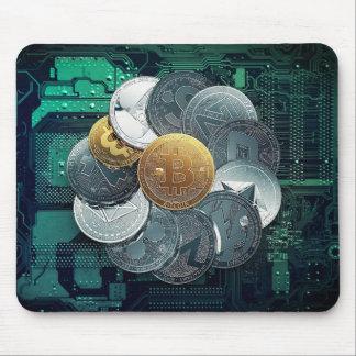 Moedas criptos Mousepad de Bitcoin BTC