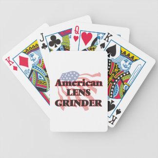 Moedor americano da lente carta de baralho