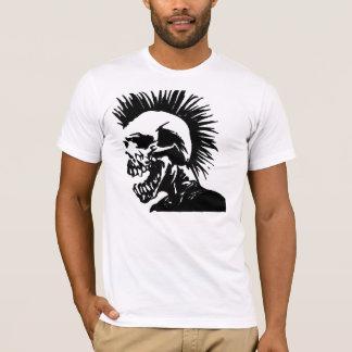 mohawk de esqueleto camiseta