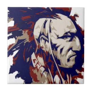 Mohawk do nativo americano azulejo quadrado pequeno