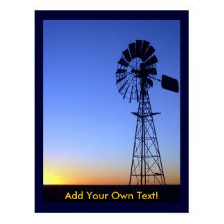 Moinho de vento australiano cartão postal