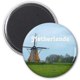 Moinho de vento holandês imã de refrigerador