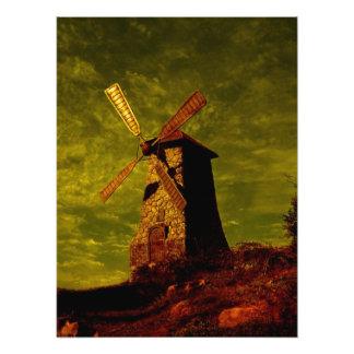 Moinho de vento impressão de foto