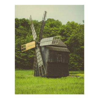 Moinho de vento, museu da vila, Sibiu Panfletos