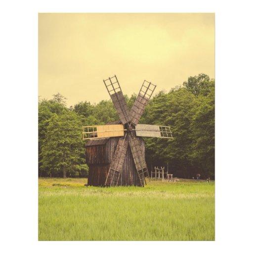 Moinho de vento, museu da vila, Sibiu Panfletos Personalizado