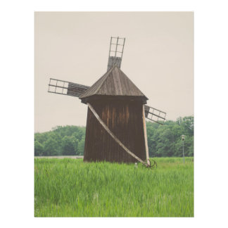 Moinho de vento, museu da vila, Sibiu Modelo De Panfleto