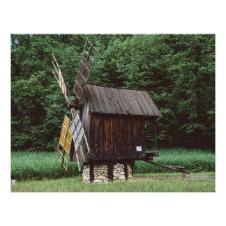 Moinho de vento, museu Sibiu da vila Panfletos Personalizado