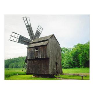 Moinho de vento, museu Sibiu da vila Panfletos Personalizados