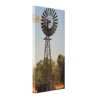 Moinho de vento rural impressão esticado das canva impressão de canvas esticadas