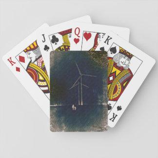 Moinhos de vento de cartões da arte abstracta da baralho