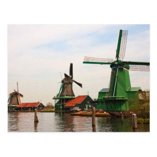 Moinhos de vento holandeses, Zaanse Schans. Cartão Postal