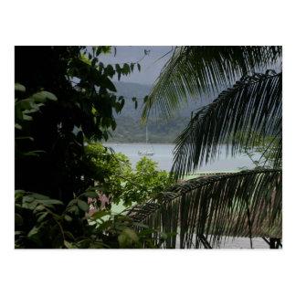 Moira na âncora, Baía Drake, Costa Rica Cartões Postais
